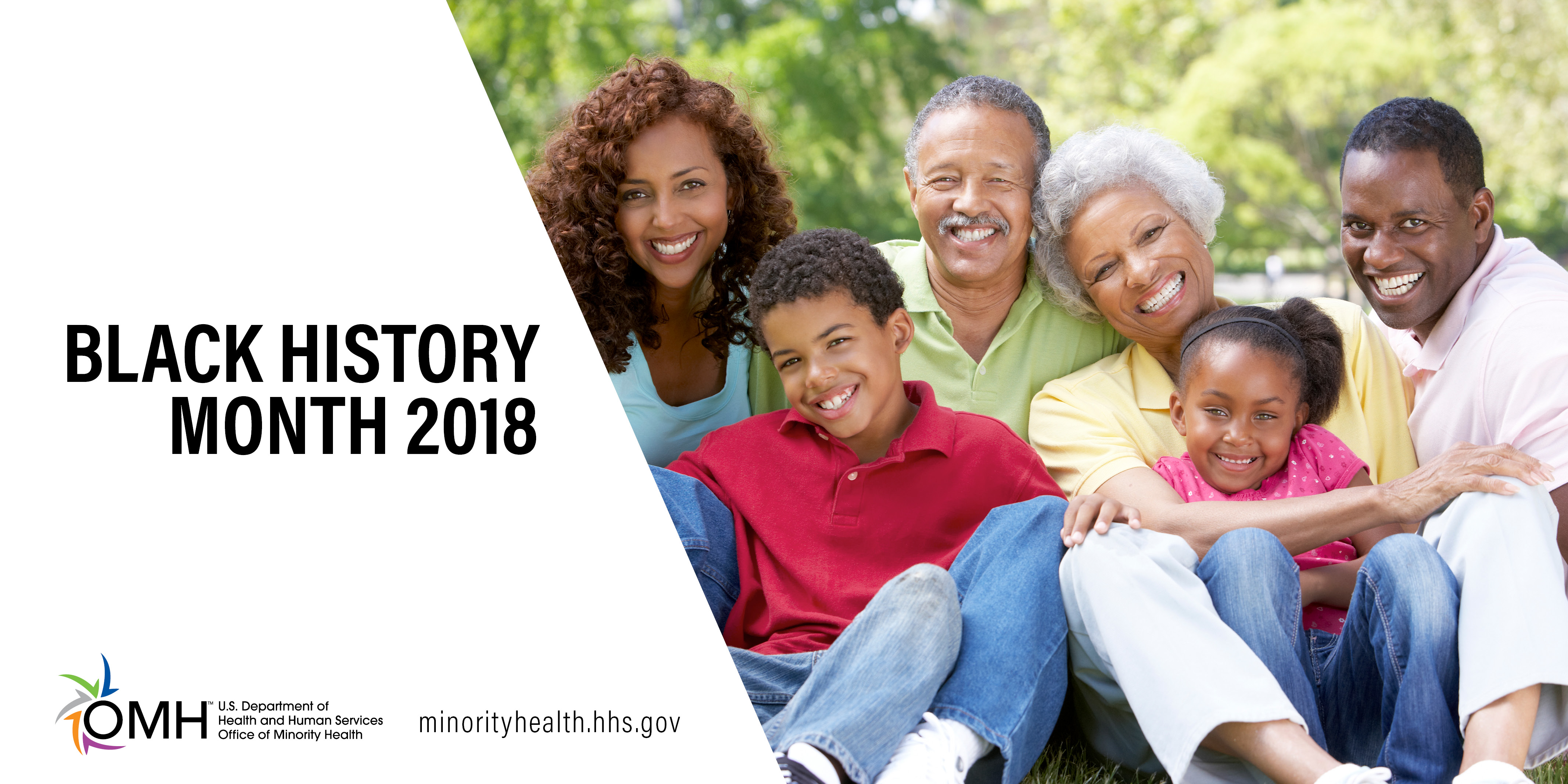 African American Family smiling - Black History Month 2018
