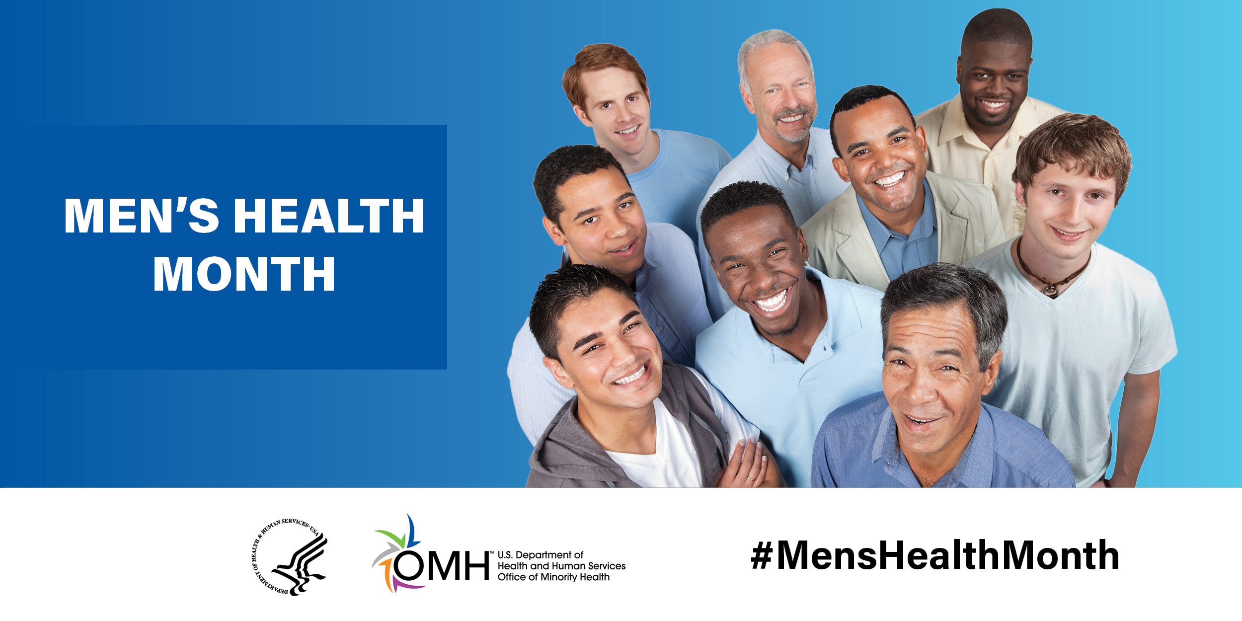 Multi Cultural Men smiling - Mens Health Month