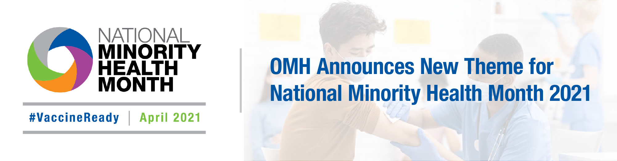 National Minority Health Month 2021 banner