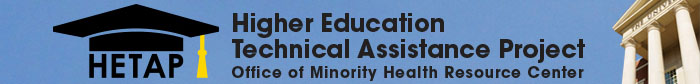 HETAP logo - Higher Education Technical Assistance Project - Office of Minority health Resources Center