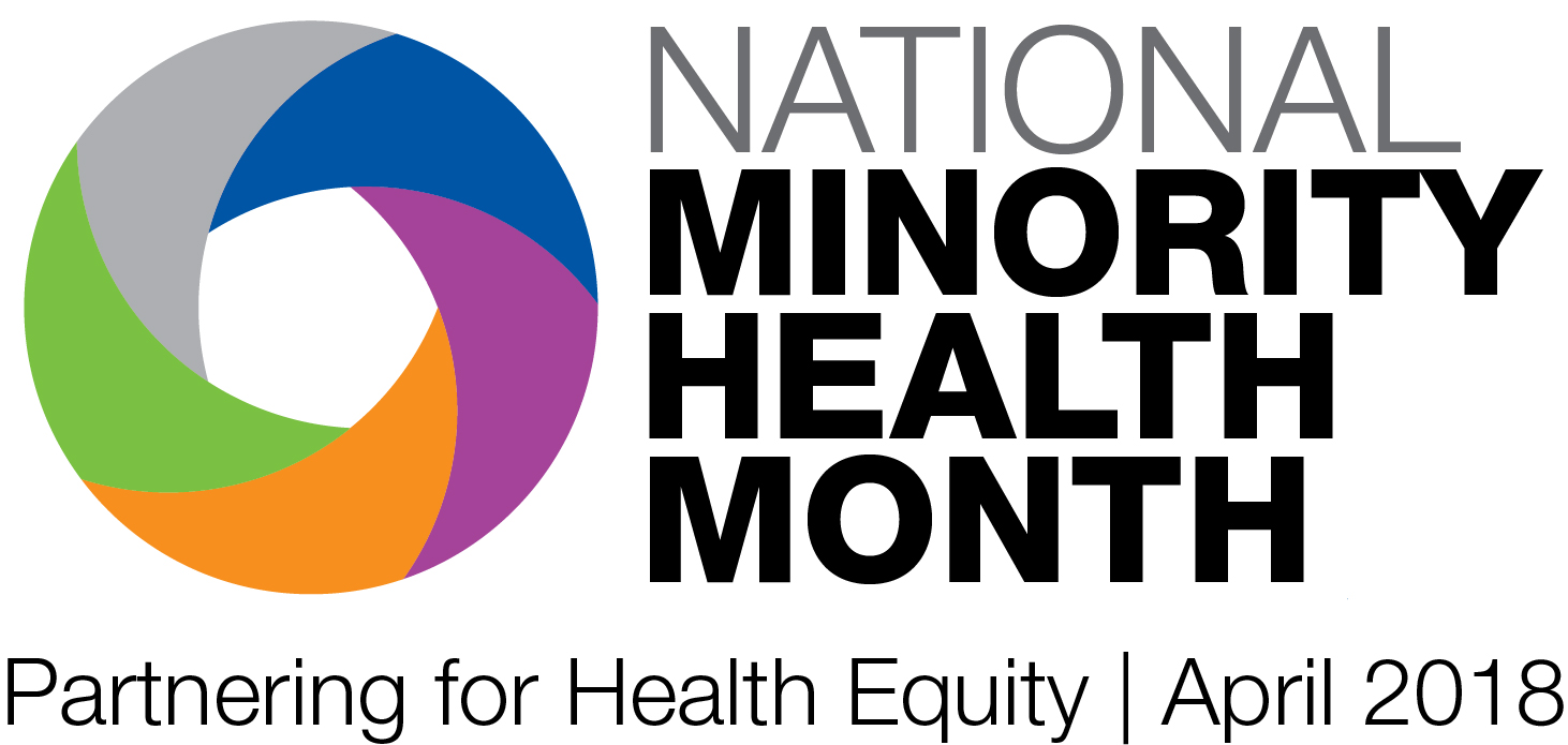 low resolution National Minority Health Month 2018 logo